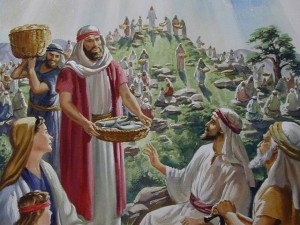 Jesus feeds the 5000.