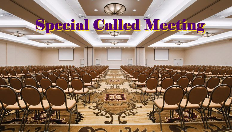 Special Called Meeting
